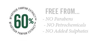McArthur Skincare products are free from parabens, petrochemicals and added sulphates